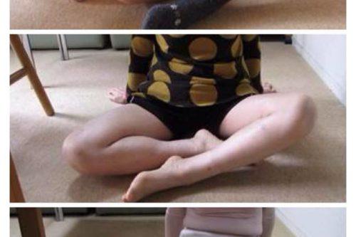 うまくあぐらがかけなかった左足が、ここまで改善されました!